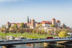 Wawel-Schloss schön gelegen im Herzen von Krakau, Polen stockfotografie
