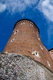 Wawel Schlosskontrollturm. Krakau, Polen Lizenzfreie Stockfotos