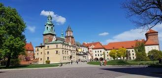 Wawel slott, Karkow, Polen royaltyfri foto