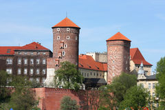 Wawel in spring Royalty Free Stock Photo