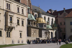Wawel and tourists2 Royalty Free Stock Photo