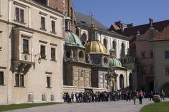 Wawel und tourists2 Lizenzfreies Stockfoto