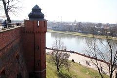 Wawel on the vistula Stock Photography