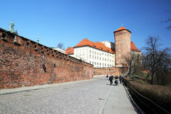 Wawel walls Stock Photography
