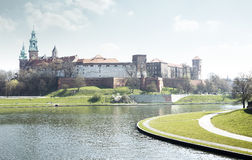 Wawelkasteel royalty-vrije stock fotografie