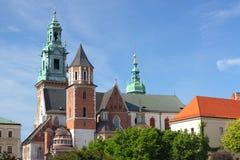 Wawelkathedraal in Krakau, Polen Royalty-vrije Stock Afbeelding