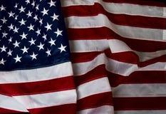 Wawing美国旗子 免版税图库摄影