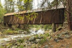 Wawona Covered Bridge Yosemite stock photo
