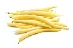Wax bean. S on a white background Royalty Free Stock Image