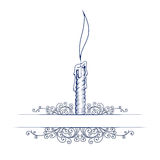 Wax candle note template Stock Images
