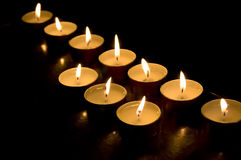 Wax candles Stock Image