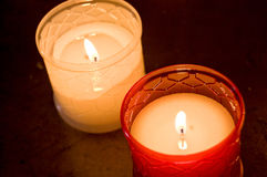 Wax candles Royalty Free Stock Photo
