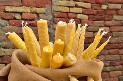 Wax candles Stock Photo