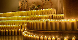 Wax candles. Photograpgh of some candles in a dark scene Royalty Free Stock Image