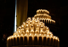 Wax candles. Photograpgh of some candles in a dark scene Stock Images
