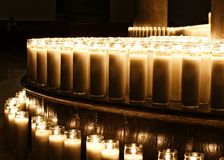 Wax candles. Photograpgh of some candles in a dark scene Royalty Free Stock Photography