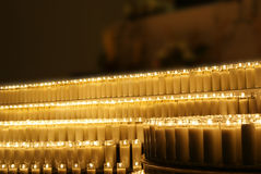 Wax candles. Photograpgh of some candles in a dark scene Stock Photography
