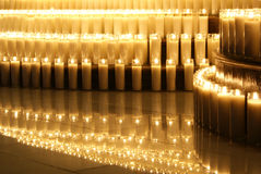 Wax candles. Photograpgh of some candles in a dark scene Stock Photo