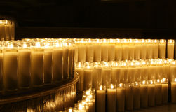 Wax candles. Photograpgh of some candles in a dark scene Royalty Free Stock Photo