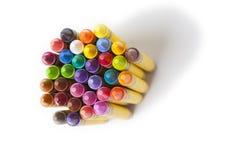 Wax coloring crayons Royalty Free Stock Photo