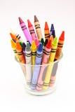 Wax crayon. Cup of Wax beauty colored crayon royalty free stock photos
