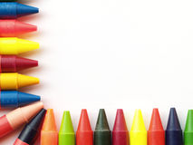 Wax crayon border Royalty Free Stock Photo