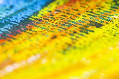 Crayon on paper texture detail Royalty Free Stock Photo