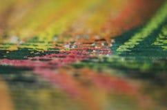 Crayon on paper texture detail Stock Photos