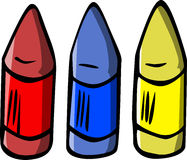 Wax crayon vector illustration Royalty Free Stock Photo