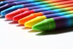 Wax crayons a Stock Image
