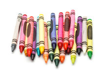 Wax crayons Stock Photos