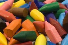 Wax crayons. Several colors, large mixed group royalty free stock image