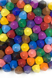 Wax crayons. Mixed group on white background Stock Image
