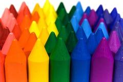 Wax crayons. Mixed group of wax crayons several colors stock image