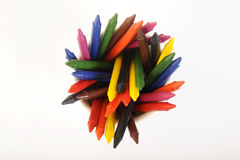 Wax crayons Royalty Free Stock Photography