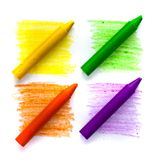 Wax crayons Stock Photography