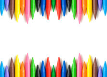 Wax crayons frame Royalty Free Stock Photos