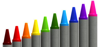 Wax Crayons Gradient Perspective Royalty Free Stock Image