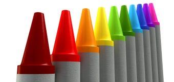 Wax Crayons Gradient Perspective Stock Images