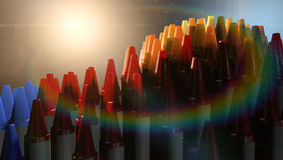 Wax Crayons Imagination Royalty Free Stock Photo