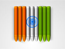 Wax crayons for Indian Republic Day celebration. Royalty Free Stock Image