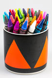 Wax crayons. Isolated a background Royalty Free Stock Photography