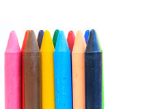 Wax crayons isolated on white background Stock Photography