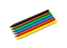 Wax crayons Stock Photo