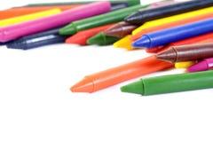 Wax crayons Stock Photos