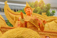 The wax festival,Traditionally Lent Candle Festival,Khao Phansa day at Ubon Ratchathani province Thailand.The public properties in. Thailand.By the beam light Royalty Free Stock Photo