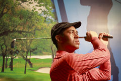 Wax figure of american golfer tiger woods Stock Photos