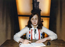 Wax Figure of Anne Frank royalty free stock images
