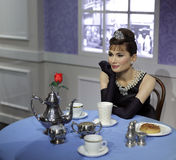Wax figure of audrey hepburn Stock Photography