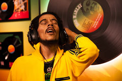 Wax figure of Bob Marley singer in Madame Tussauds Wax museum in Amsterdam, Netherlands Stock Images
